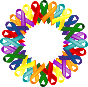 multi cancer ribbon