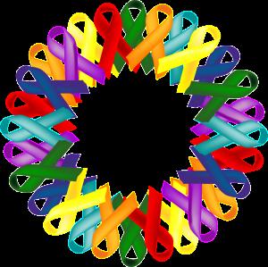 multi cancer ribbon